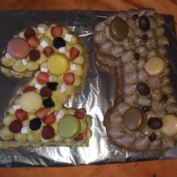 Anna - Number cake chocolat et fruits #