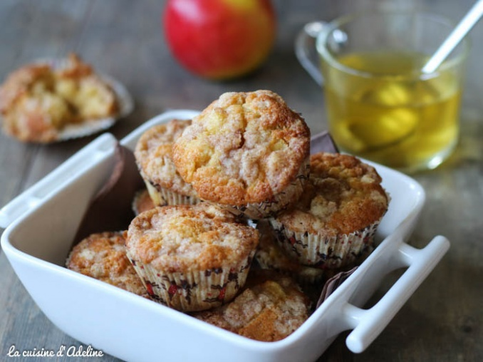 Muffins aux pommes streusel