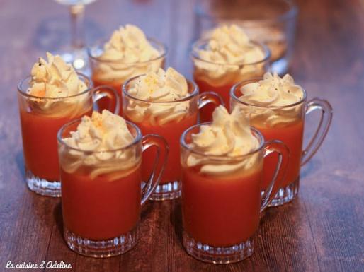 Verrine de carottes façon cappuccino
