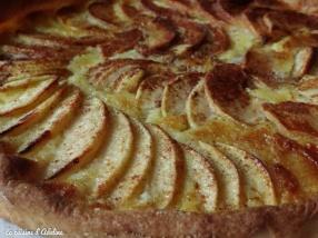 tarte aux pommes Alsacienne - apfelkueche