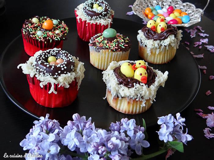 cupcake chocolat nid de paques