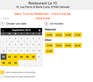 tous au restaurant réservation