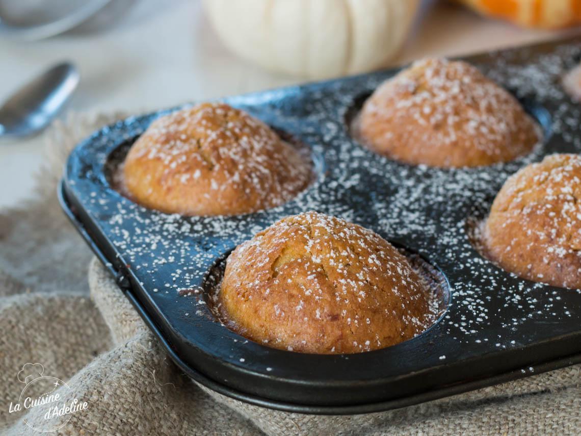 Muffins à la courge façon carrot cake