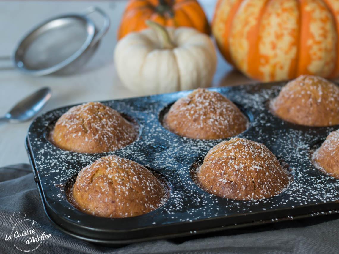 Muffins courge et épices façon carrot cake