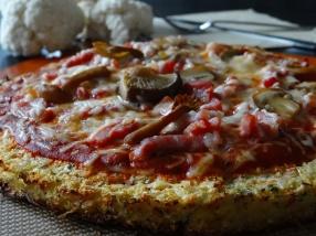 Pâte à pizza base chou-fleur
