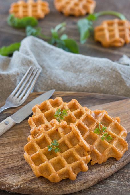 Gaufres de patate douce recette facile