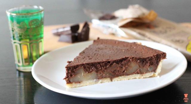 Tarte poire_mousse chocolat soochef