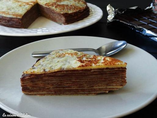 Gâteau de crepes au chocolat