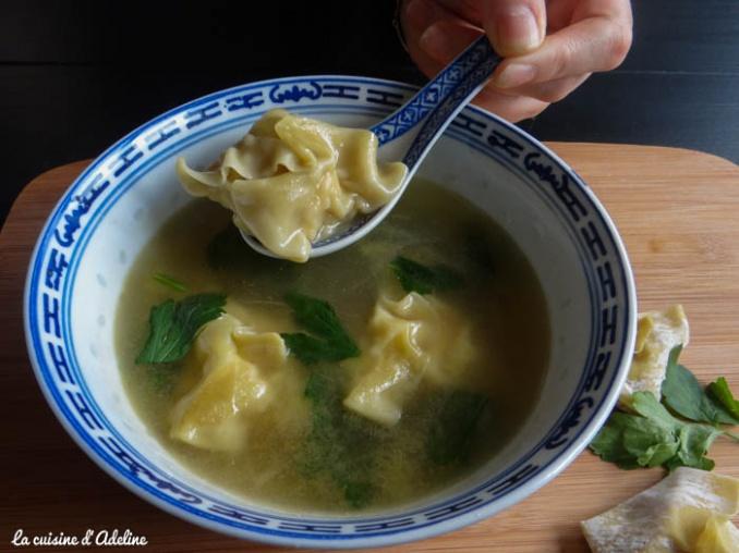 soupe wonton (raviolis chinois)