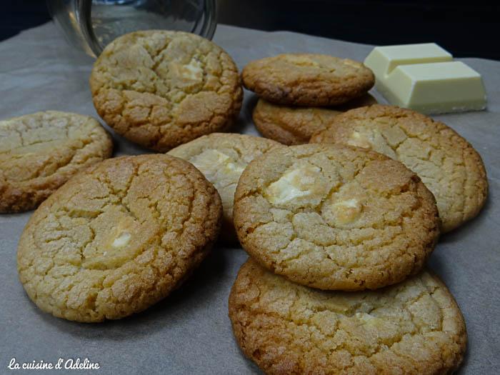 cookies au chocolat blanc la cuisine d 39 adeline. Black Bedroom Furniture Sets. Home Design Ideas