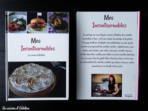 Livre recettes mes incoutournables la cuisine d'Adeline