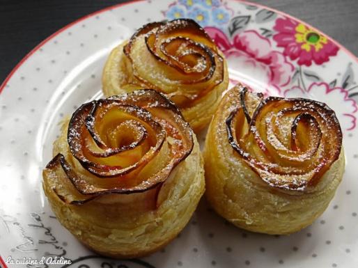Roses feuilletées aux pommes - Recette vidéo