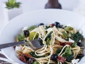 Spaghettis aux épinard et à l'ail recette