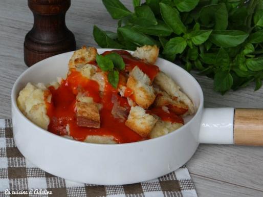 mehlknepfle sauce tomate crouton oignon alsace