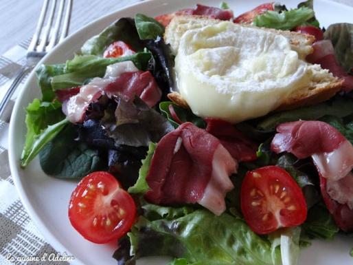 salade du sud ouest magret canard gesier tomate rocamadour recette
