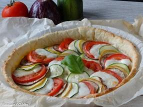 tarte aux légumes tomate moutarde mozzarella courgette recette