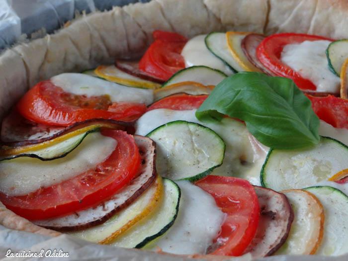 tarte aux légumes tomate moutarde mozzarella recette