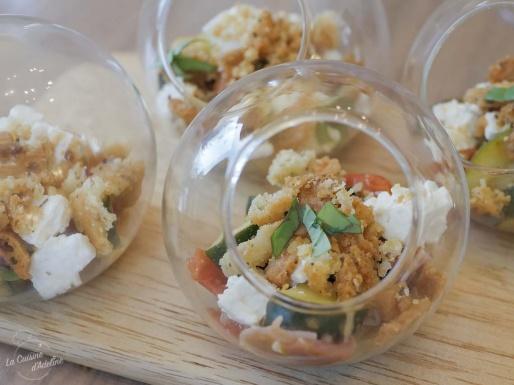 Crumble salé aux légumes d'été recette originale courgette