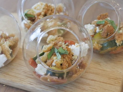 crumble salé légumes parmesan recette
