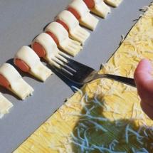 Feuilletés saucisses décoration