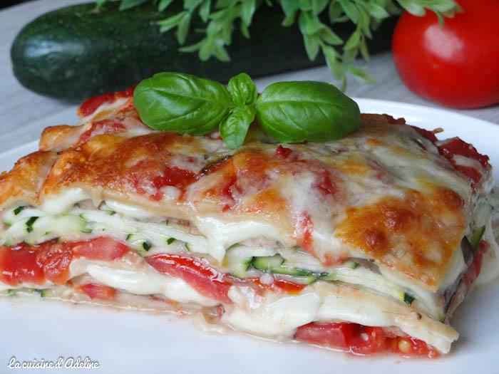 Lasagne Idee Recette.Lasagnes Vegetariennes Aux Courgettes Tomates Et Mozzarella