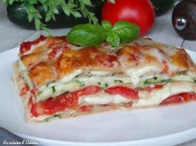 Lasagnes végétariennes sans viande courgette tomate