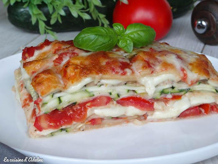 lasagnes v g tariennes aux courgettes tomates et. Black Bedroom Furniture Sets. Home Design Ideas