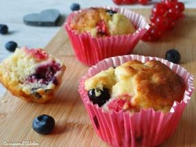 muffins myrtilles chèvre miel