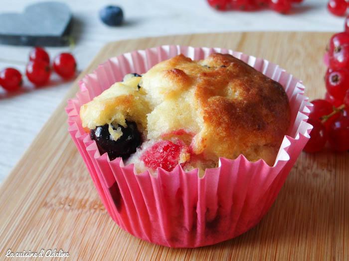 muffins myrtilles chèvre miel groseilles