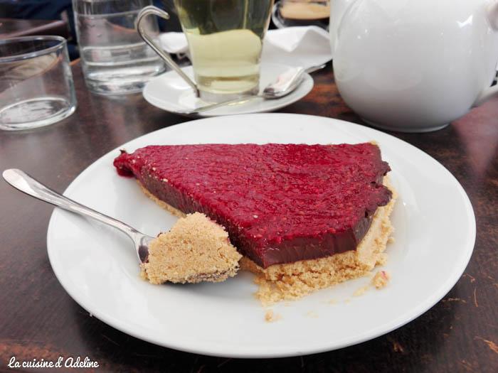 Tarte chocolat framboise - Flower's café Toulouse