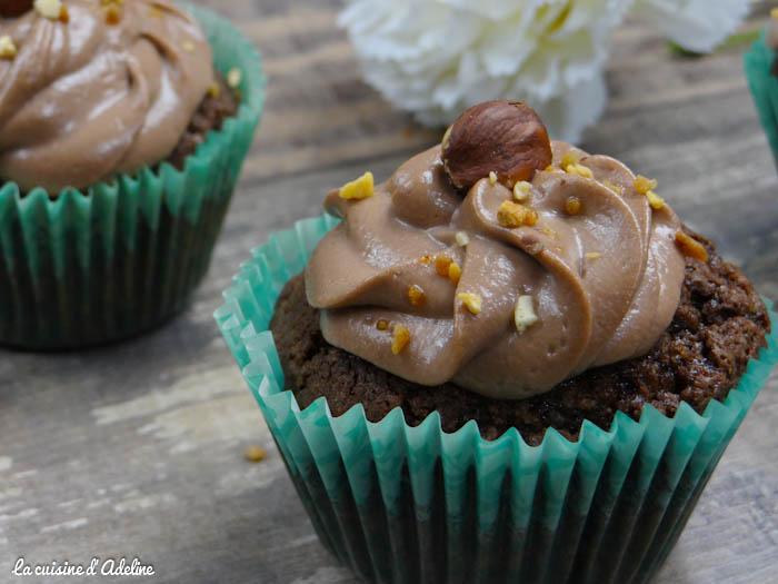 Cupcakes chocolat noisette Nutella