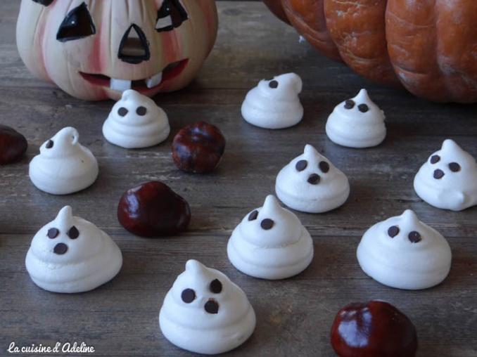 Meringues fantômes - Recette Halloween
