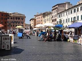Piazza Navona Rome - artistes
