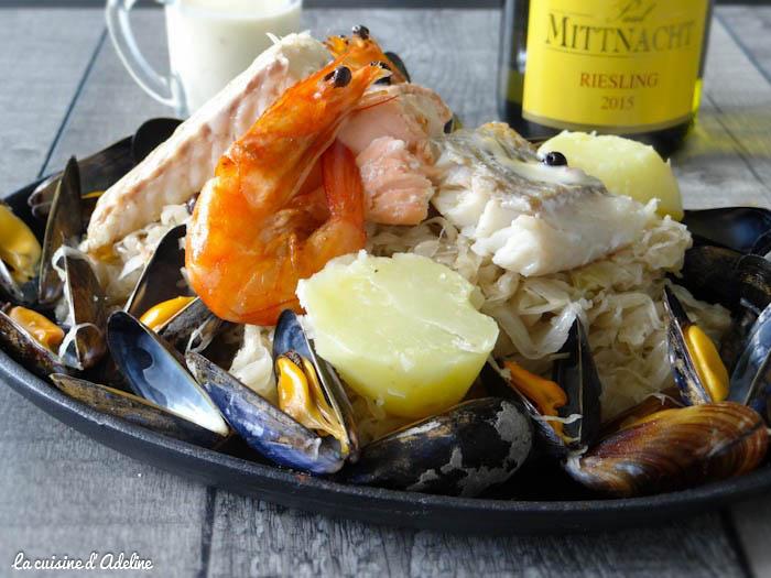 Choucroute aux poissons et fruits de mer