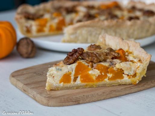 Tarte potiron roquefort et noix