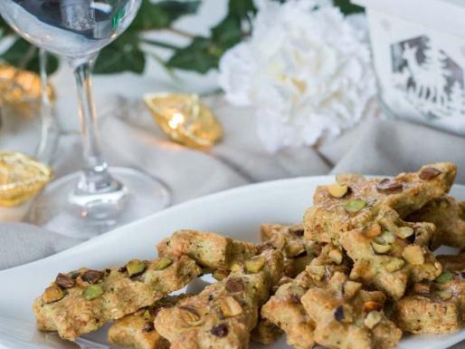Sablé apéritif gruyère pistache et basilic recette Noël