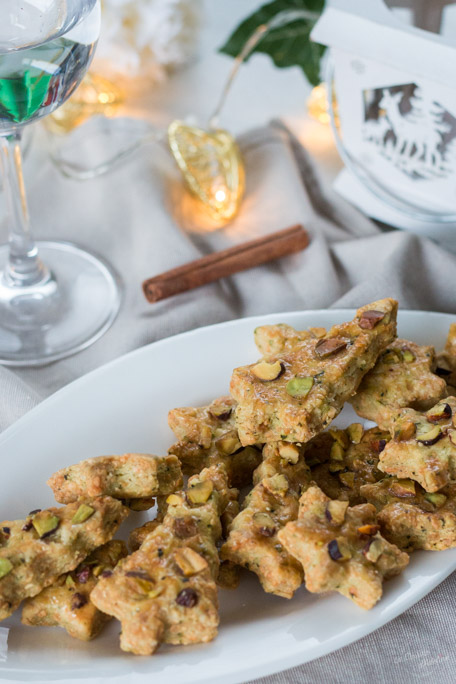 Sablé apéritif gruyère pistache et basilic