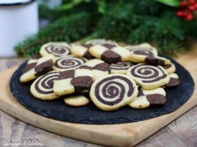 Biscuits damier spirale