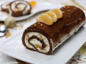 Bûche chocolat mascarpone clémentine