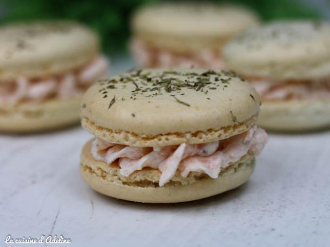 Macarons saumon fumé aneth citron