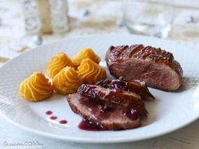Magret de canard sauce pinot noir
