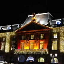 Décoration de l'Aubette marché de Noël Strasbourg
