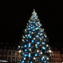 Sapin de Noël place Kléber bleu