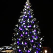Sapin de Noël place Kléber violet