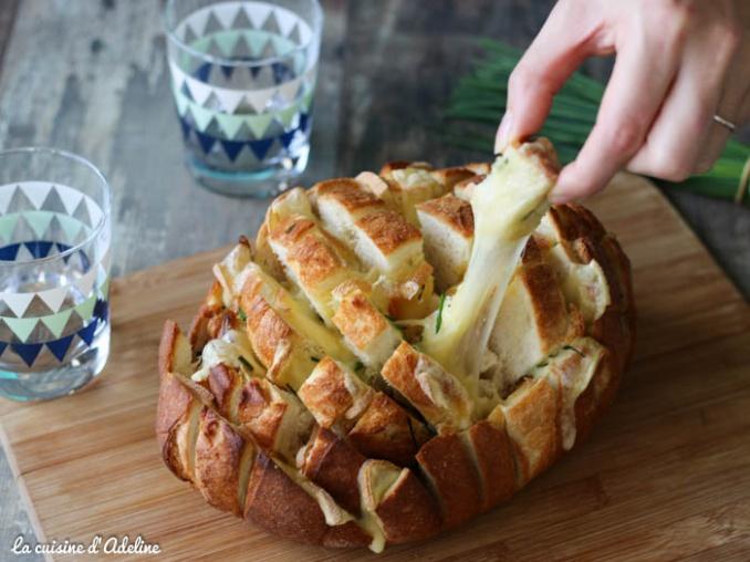 Pain apéritif au fromage à raclette