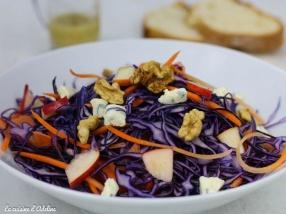 Salade de chou rouge carottes pommes noix recette