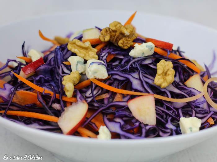 salade de chou rouge carottes pommes recette