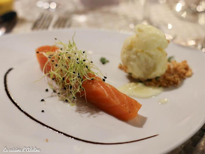 Saumon fumé maison restaurant l'Oset à Obernai