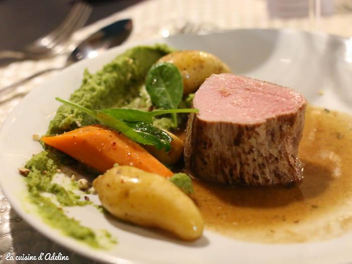 Veau cuisson basse température restaurant l'Oset à Obernai