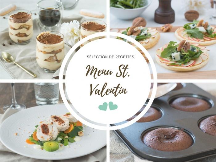 Menu St Valentin idées recettes